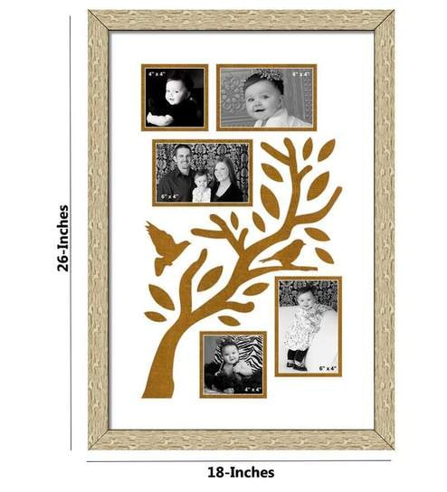 Buy Elegant Arts and Frames Family Tree Gray Synthetic Wood Collage ...