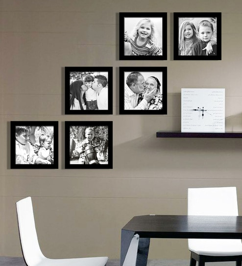 Buy Black Synthetic 35 X 1 X 26 Inch Group 6 D Wall Collage Photo