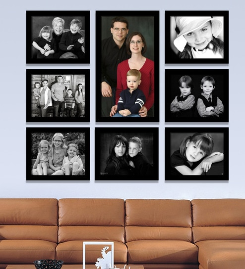 0de8cdcfba8 Buy Black Synthetic 38 x 1 x 32 Inch Group 8-A Wall Collage Photo ...