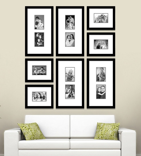 Black Synthetic 38 X 1 43 Inch Group 8 B Wall Collage Photo Frame