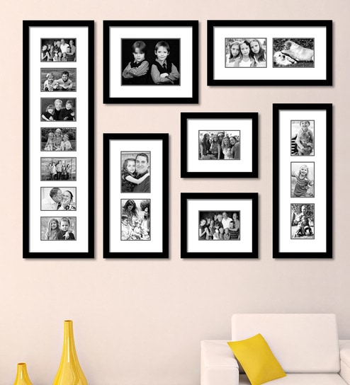 b44a5478d87 Buy Black Synthetic 52 x 1 x 40 Inch Group 7-B Wall Collage Photo ...