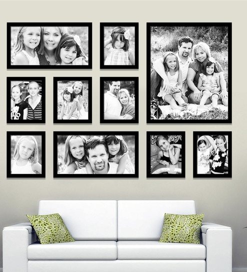 Black Synthetic 58 X 1 40 Inch Group 10 A Wall Collage Photo Frame