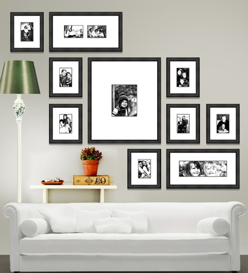 Black Synthetic 67 X 1 55 5 Inch Group 10 D Wall Collage Photo Frame By Elegant Arts And Frames