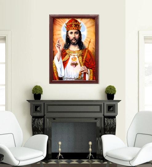 Buy Canvas 22.5 x 30.5 Inch Christ the King Framed Digital Art Print ...