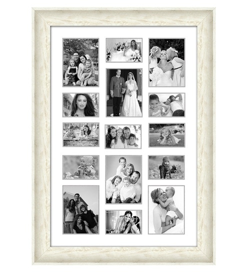 Buy Cream Synthetic 30 x 42 Inch Collage Photo Frame by Elegant Arts ...