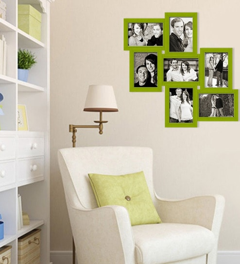 Buy Green Synthetic Wood 20 x 20 Inch Collage Photo Frame by Elegant ...