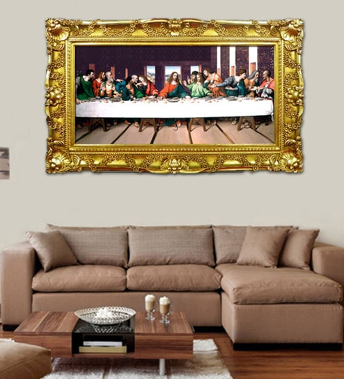Buy Elegant Arts And Frames Paper 60 X 36 Inch Last Supper Framed
