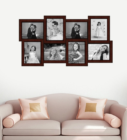 Buy Red Synthetic Wood 17 X 34 Inch Collage Photo Frame By Elegant