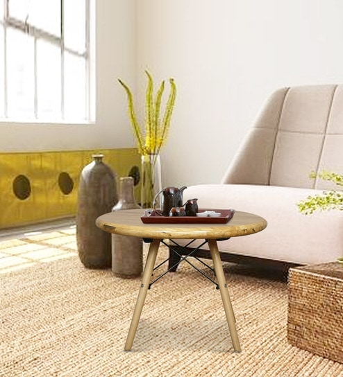 Elegant Center Table in Natural Finish by Komfort Furnishers