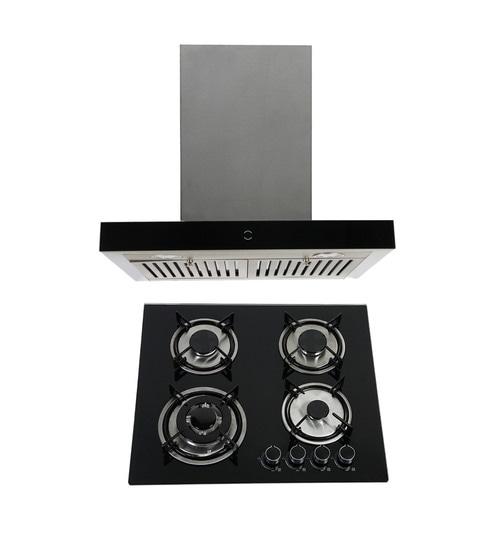 Elegant Germany Ele 1010 60 Cm Hood Chimney 4 Burner Cooktop Combo