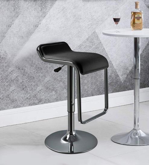 Phenomenal Alba Swivel Adjustable Bar Stool In Black Colour By Workspace Interio Theyellowbook Wood Chair Design Ideas Theyellowbookinfo