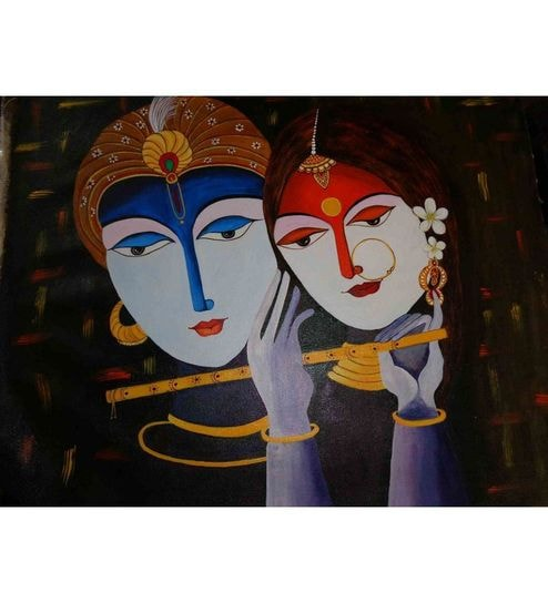 Elite Collection Painting without Frame Art Krishna-1 (34X22) by ...