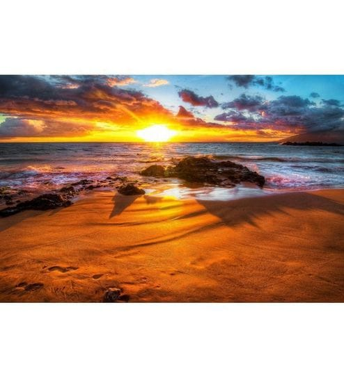 Elite Collection Painting Without Frame Seaside Sunrise Scenery by ...