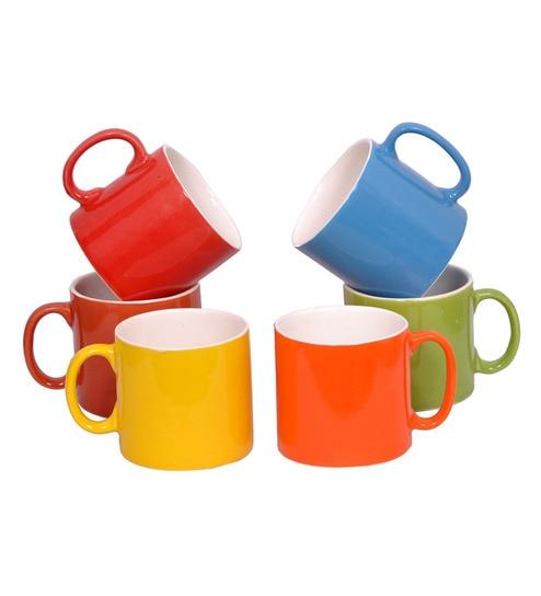 Buy Elite Handicrafts Multicolor Ceramic 180 Ml Tea Cup Set Of 6