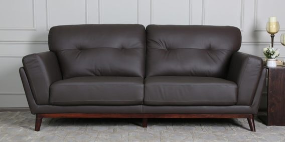 Enjoyable Elias 3 Seater Sofa In Brown Colour By Casacraft Interior Design Ideas Tzicisoteloinfo