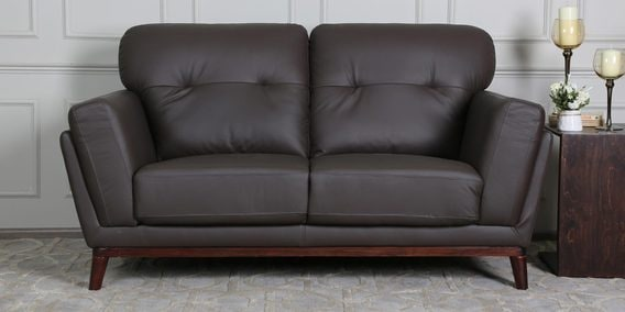Pleasant Elias 2 Seater Sofa In Brown Colour By Casacraft Download Free Architecture Designs Rallybritishbridgeorg