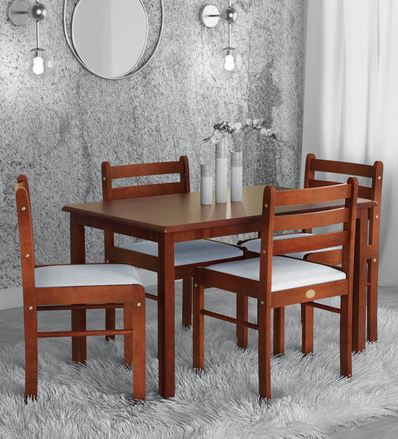 Buy Elite 4 Seater Dining Set In Rosewood Finish By Parin Online Modern 4 Seater Dining Sets Dining Furniture Pepperfry Product