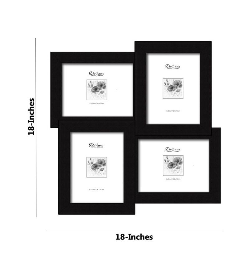 Buy Elegant Arts & Frames 4-in-1 Collage Black Photo Frame 8 x 6 ...