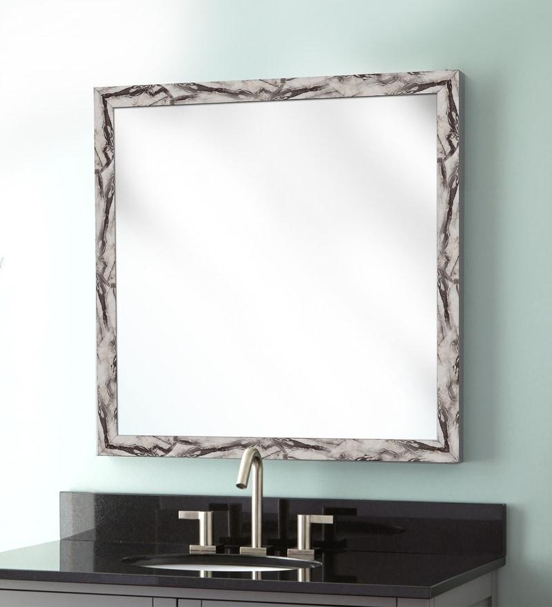 Elegant Arts & Frames Cream Synthetic Bathroom Mirror