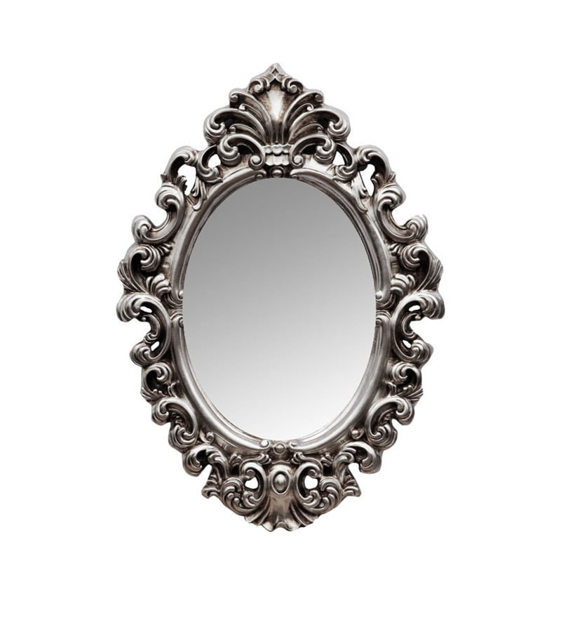 Buy Elegant Arts & Frames Oval Mirror Antique Silver in Colour ...