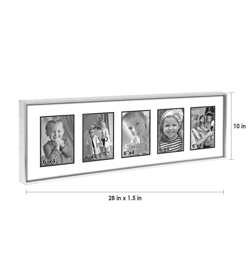 buy silver metal 10 x 28 inch collage photo frame by elegant arts