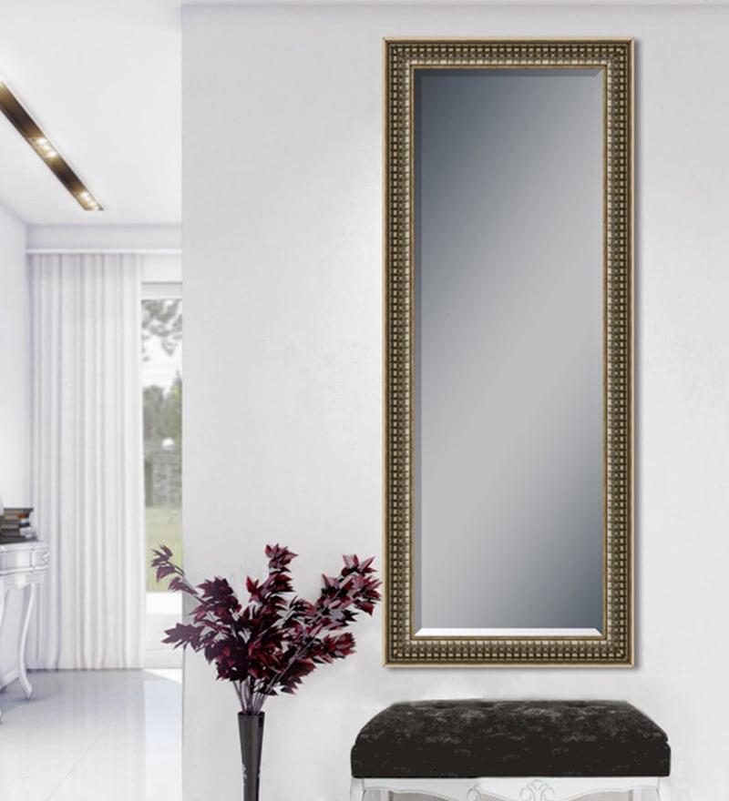 Silver Wood & Saint Gobain Glass Mirror by Elegant Arts and Frames