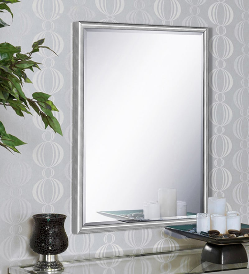 Marisa Minimalist Mirrors in Silver by CasaCraft