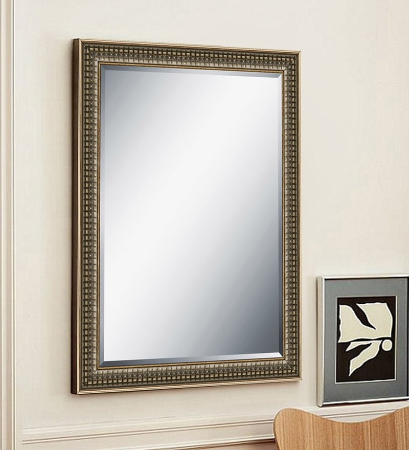 Silver Wood & Saint Gobain Glass Mirror by Elegant Arts and Frames