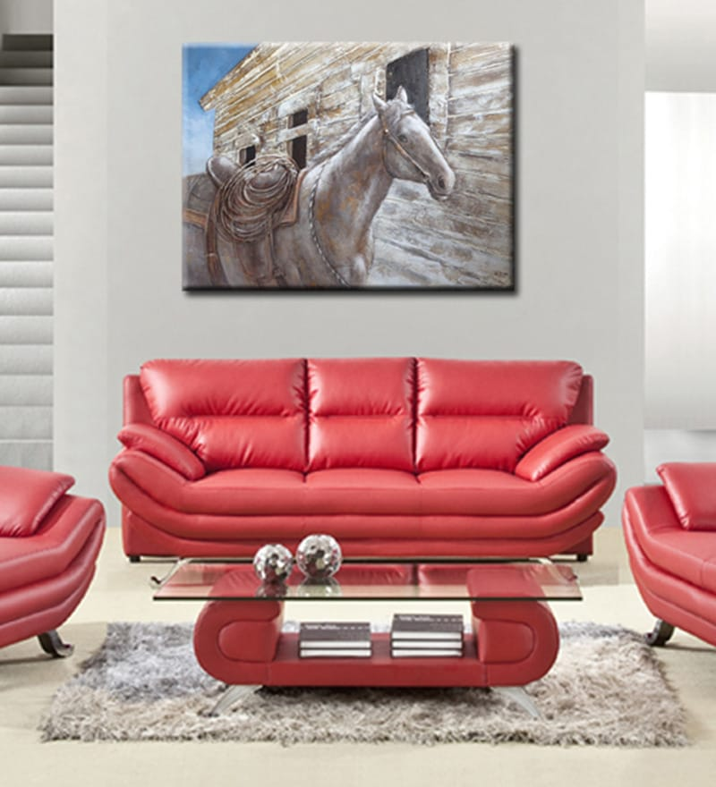 Canvas 47.2 x 35.4 Inch Triste Caballo by Andrew. H Framed Painting by Elegant Arts and Frames