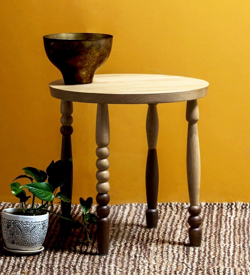 Elgar End Table in Dual Tone  Finish by Bohemiana