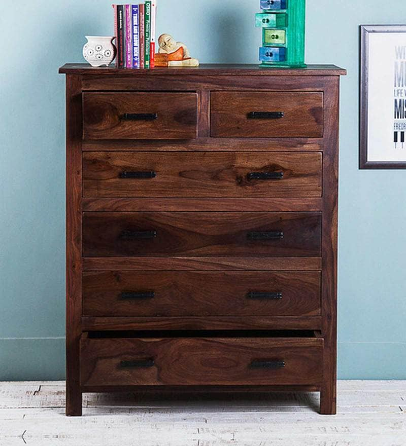 Elkhorn Chest of Six Drawers in Provincial Teak Finish by Woodsworth