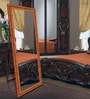 Brown Wooden Decorative Full Length Dressing Mirror by Elegant Arts & Frames