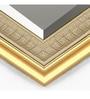 Elegant Arts & Frames Golden Synthetic Wood Wall Mirror