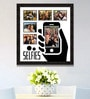 Black Synthetic 26 x 1 x 28 Inch Selfies Pattern 1 Collage Photo Frame by Elegant Arts and Frames