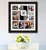 Black Synthetic 26 x 1 x 28 Inch Selfies Pattern 2 Collage Photo Frame by Elegant Arts and Frames