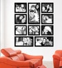 Black Synthetic 38 x 1 x 43 Inch Group 10-E Wall Collage Photo Frame by Elegant Arts and Frames