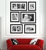 Black Synthetic 39 x 1 x 48 Inch Group 6-C Wall Collage Photo Frame by Elegant Arts and Frames