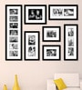 Black Synthetic 52 x 1 x 40 Inch Group 7-B Wall Collage Photo Frame by Elegant Arts and Frames