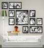 Black Synthetic 70 x 1 x 54 Inch Group 10-B Wall Collage Photo Frame by Elegant Arts and Frames