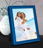 Elegant Arts And Frames Blue Metal 6 x 1 x 8 Inch Tabletop Photo Frame