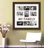 Elegant Arts and Frames Brown Synthetic 26 x 1 x 27 Inch My Family Collage Photo Frame