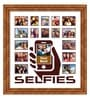 Elegant Arts and Frames Brown Wooden 26 x 1 x 28 Inch Selfies Pattern 3 Collage Photo Frame