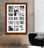 Elegant Arts and Frames Brown Wooden 28 x 1 x 40 Inch 15 Pocket Family Collage Photo Frame