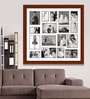 Brown Wooden 34 x 1 x 34 Inch 18 Pocket Family Collage Photo Frame by Elegant Arts and Frames
