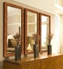 Elegant Arts and Frames Brown Wooden Decorative Wall Mirror - Set of 3
