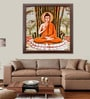 Elegant Arts and Frames Paper 37.5 x 37.5 Inch Buddha Framed Art Print