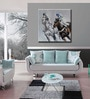 Canvas 39.4 x 39.4 Inch Caballo Paseo by Andrew. H Framed Painting by Elegant Arts and Frames