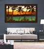 Elegant Arts and Frames Paper 60 x 33 Inch Emerald Sunset Framed Art Print