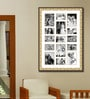 Gold Wooden 28 x 1 x 40 Inch 15 Pocket Family Collage Photo Frame by Elegant Arts and Frames