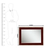 Elegant Arts and Frames Maroon Wooden Designed Decorative Wall Mirror
